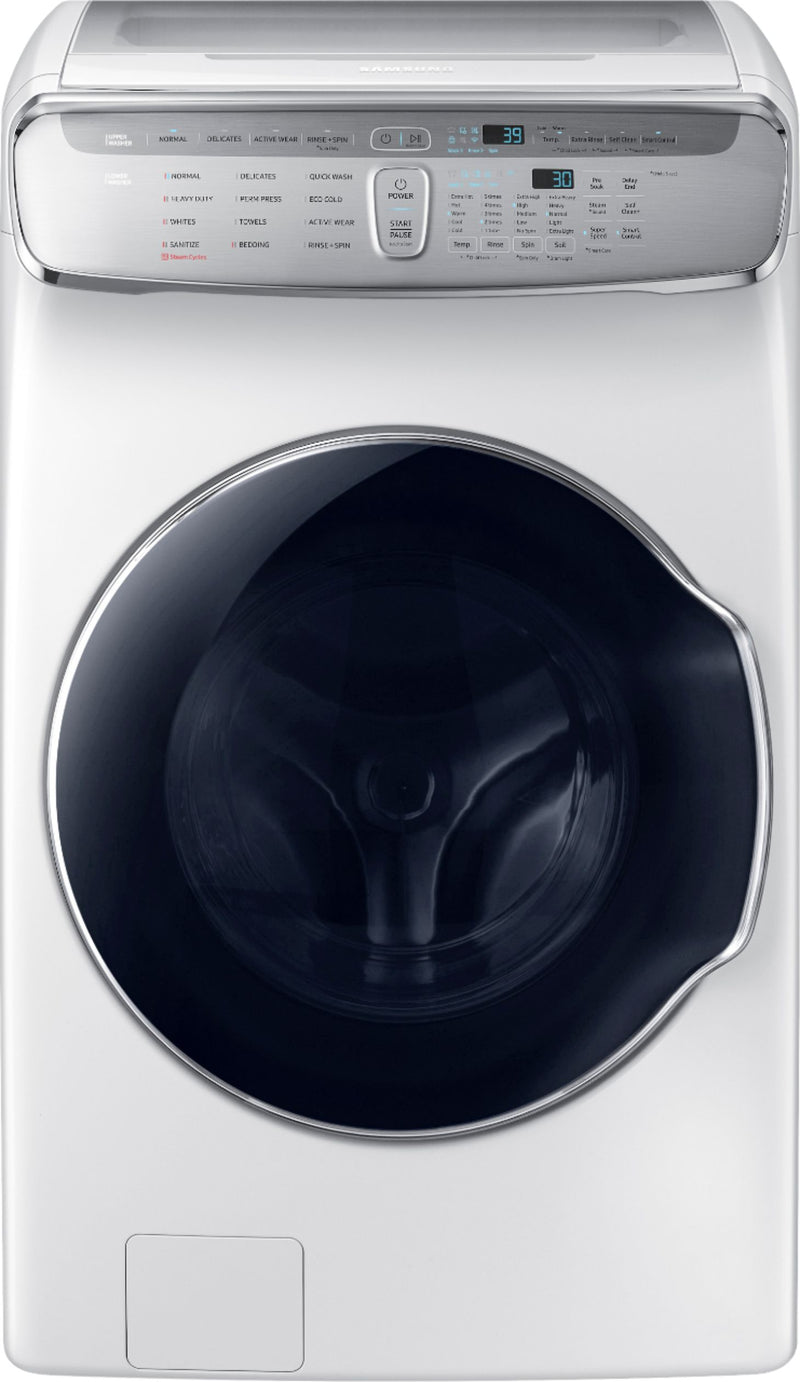 Samsung - FlexWash; 6.0 Cu. Ft. Washer with Steam - White