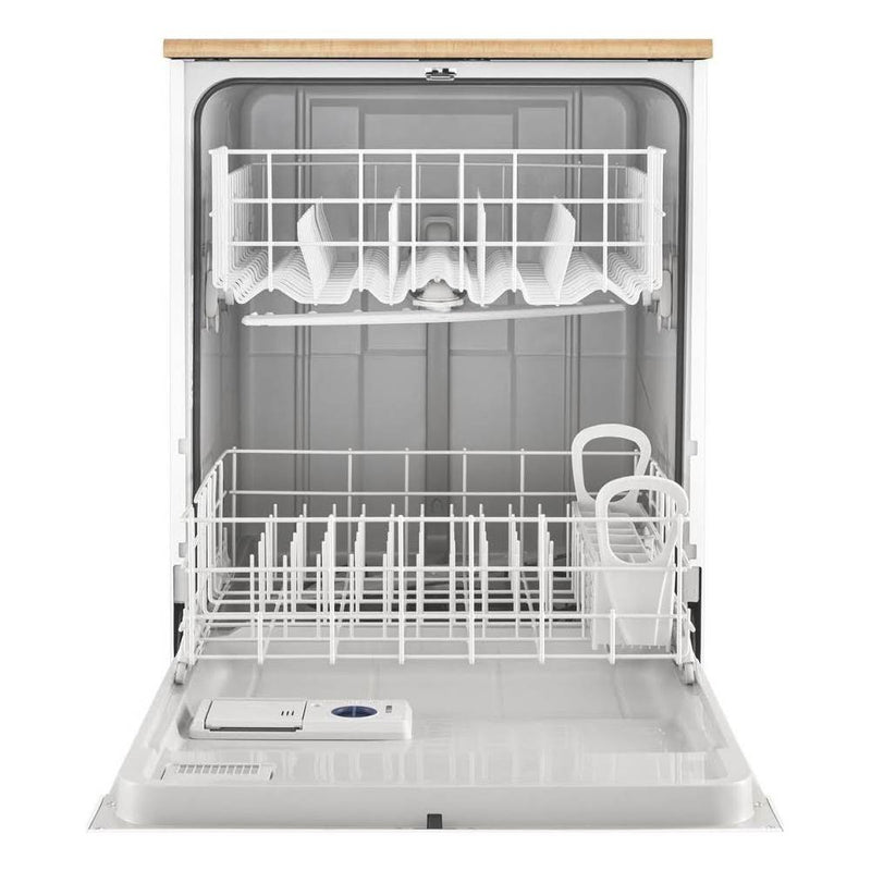 "Whirlpool - 24"" Front Control Tall Tub Portable Dishwasher - White"