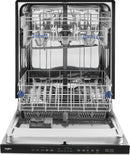 "Whirlpool - 24"" Built-In Dishwasher - Stainless steel"