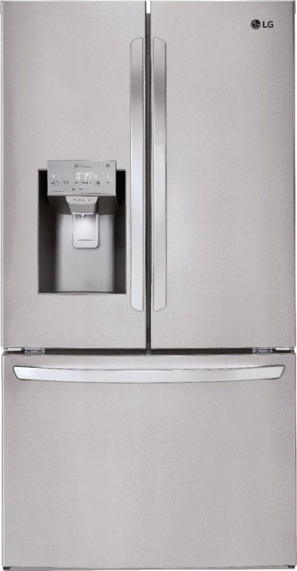 LG - 27.9 French Door Smart Wi-Fi Enabled Refrigerator - Stainless steel
