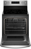 Whirlpool - 5.3 Cu. Ft. Self-Cleaning Freestanding Electric Convection Range - Stainless steel