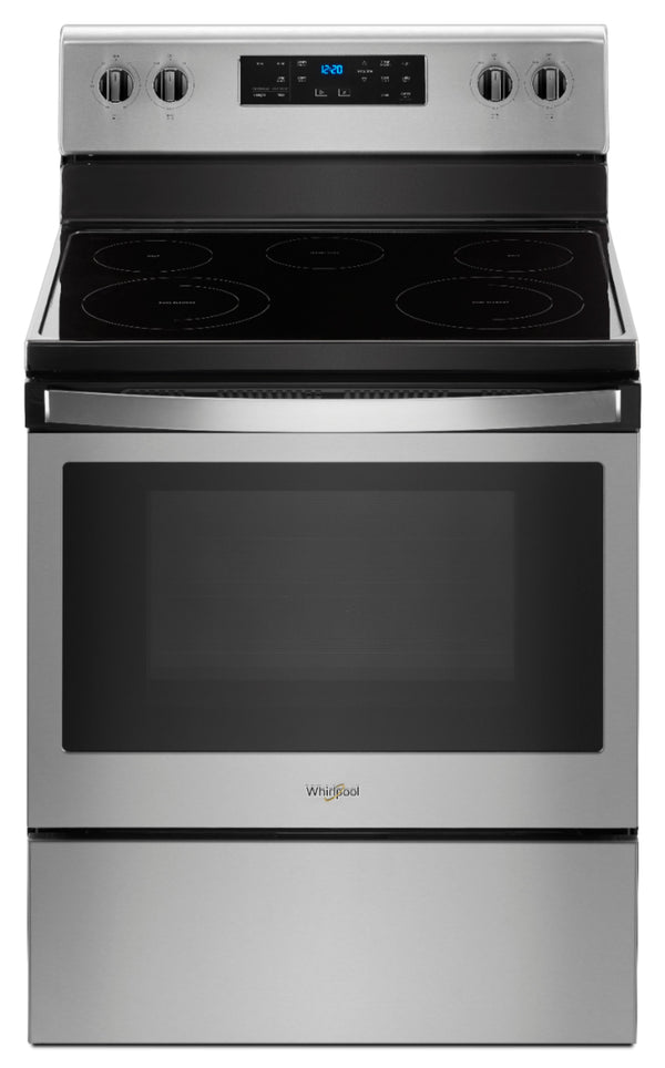Whirlpool - 5.3 Cu. Ft. Freestanding Electric Range - Stainless steel