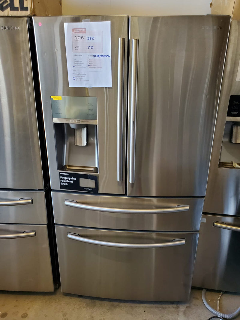 Samsung-27.8 Cu Ft 4 Door French Door Refrigerator, Food ShowCase, Thru the Door Ice and Water-steel