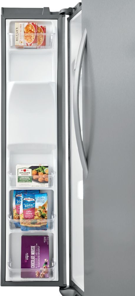 Frigidaire - 22.2 Cu. Ft. Counter-Depth Side-by-Side Refrigerator - Stainless steel