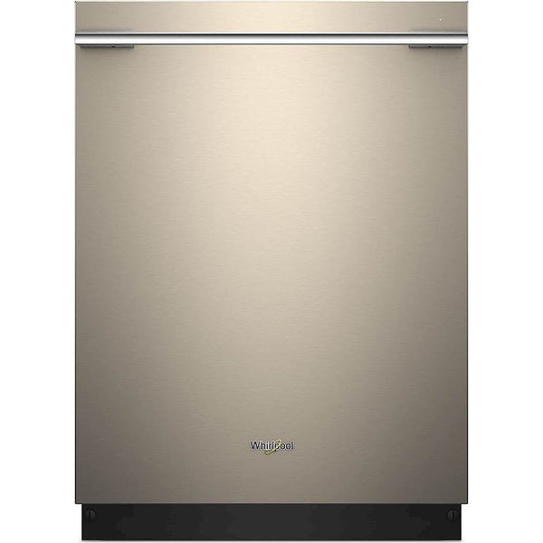 "Whirlpool - 24"" Tall Tub Built-In Dishwasher with Stainless Steel Tub - Sunset Bronze"
