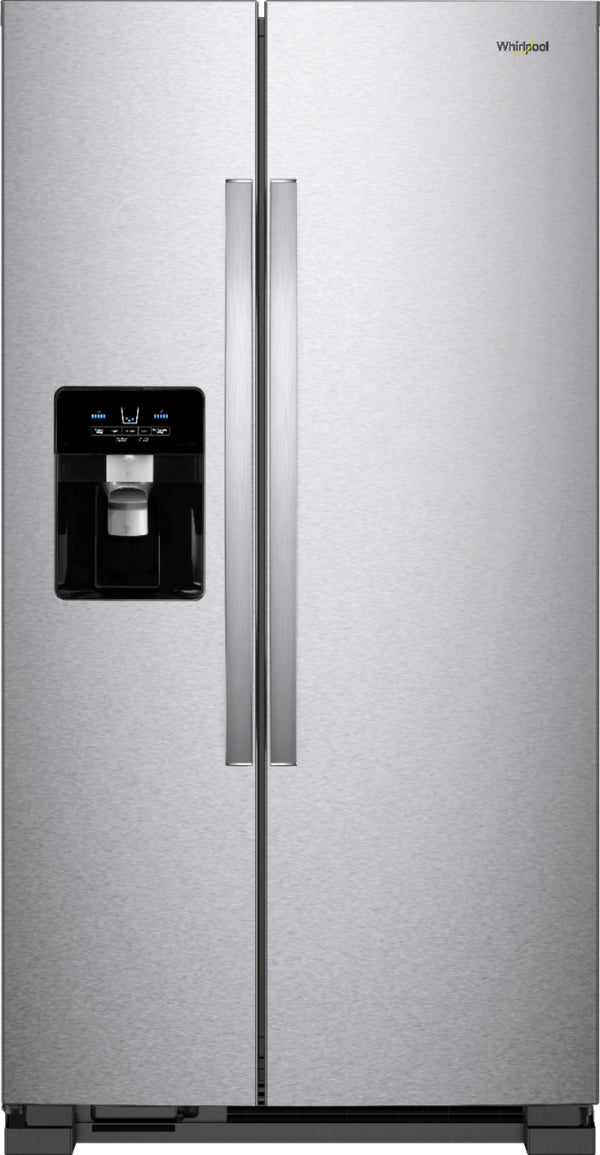Whirlpool - 24.5 Cu. Ft. Side-by-Side Refrigerator - Stainless steel