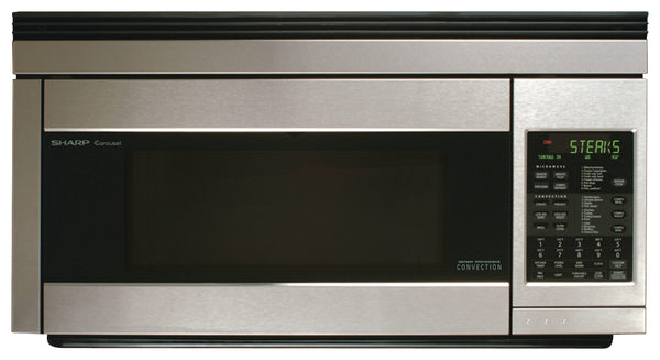Sharp - 1.1 Cu. Ft. Convection Over-the-Range Microwave with Sensor Cooking - Stainless steel