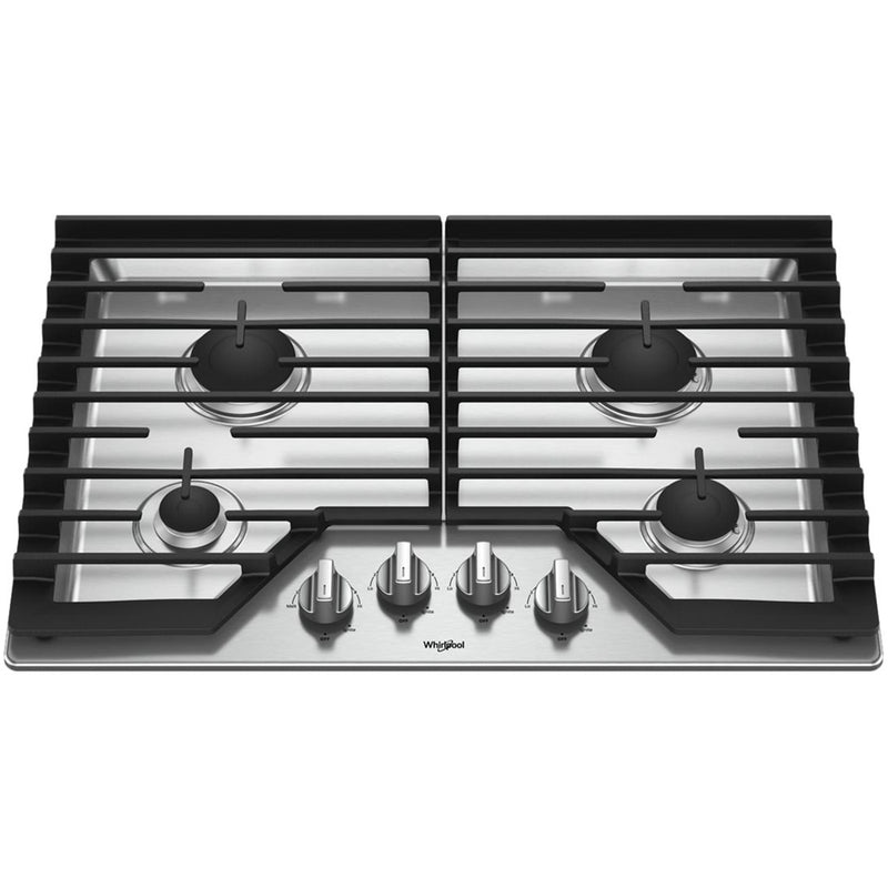 "Whirlpool - 30"" Gas Cooktop - Stainless steel"