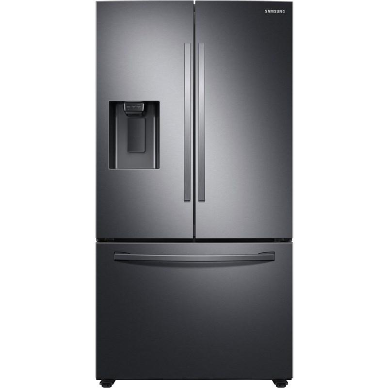 Samsung - 27-cu ft French Door Refrigerator with Dual Ice Maker - Fingerprint-Resistant Black Stainless Steel