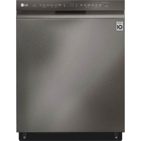 "LG - 24"" Dishwasher with Stainless Steel Tub, Quadwash, and 3rd Rack - Black Stainless Steel"