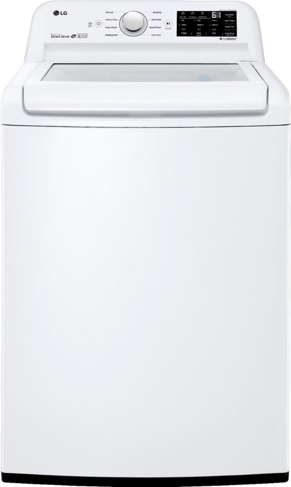 LG - 4.5 Cu. Ft. 8-Cycle Top-Loading Washer with 6Motion Technology - White
