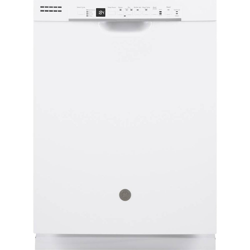 "GE - 24"" Front Control Built-In Dishwasher with 3rd Rack, 50 dBA - White"