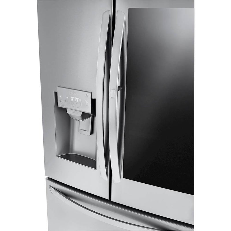 LG - 21.9 Cu. Ft. French InstaView Door-in-Door Counter-Depth Refrigerator - Stainless steel