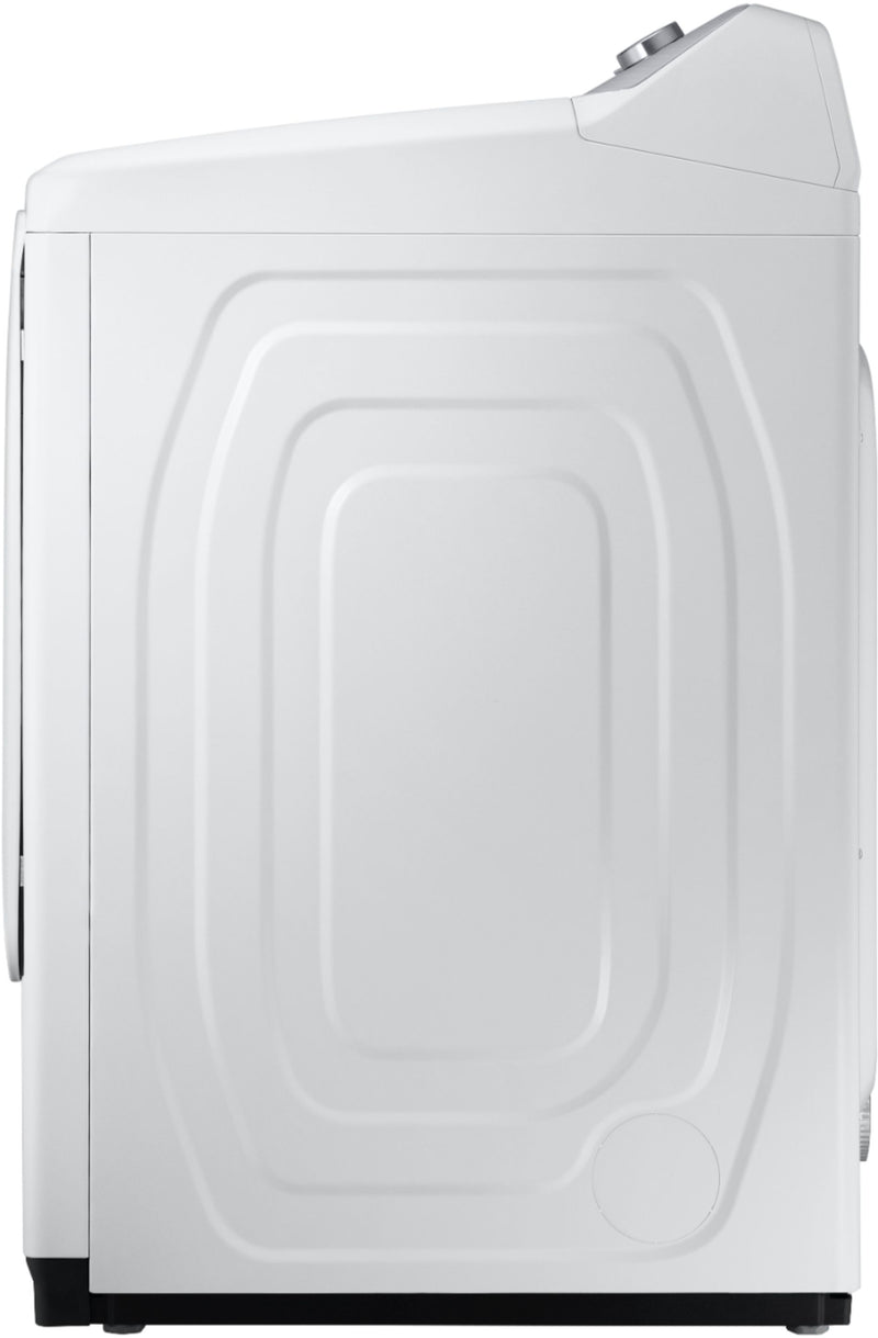 Samsung - 7.4 Cu. Ft. Electric Dryer with 12 Cycles and Sensor Dry - White