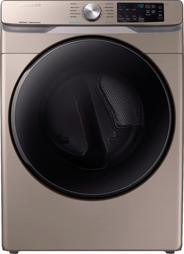 Samsung - 7.5 Cu. Ft. 10-Cycle Gas Dryer with Steam - Champagne