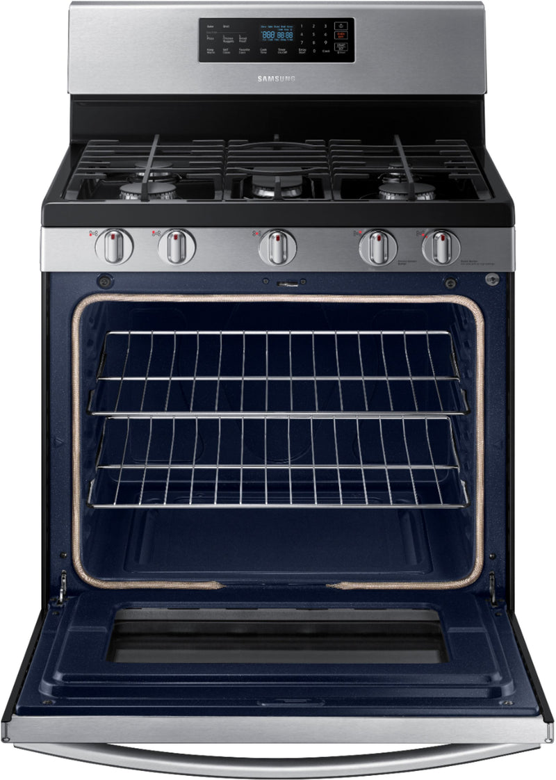 Samsung - 5.8 Cu. Ft. Self-Cleaning Freestanding Gas Range - Stainless steel