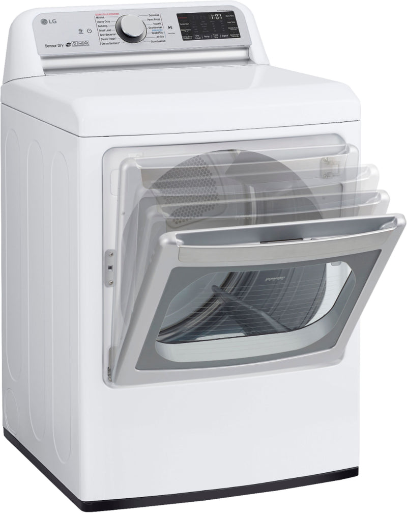 LG - 7.3 Cu. Ft. 14-Cycle Electric Dryer with TurboSteam - White