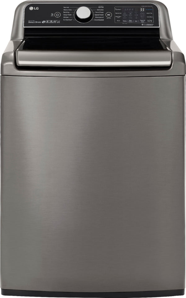 LG - 5.5 Cu. Ft. 12-Cycle Top-Loading Washer with TurboWash3D™ Technology - Graphite Steel