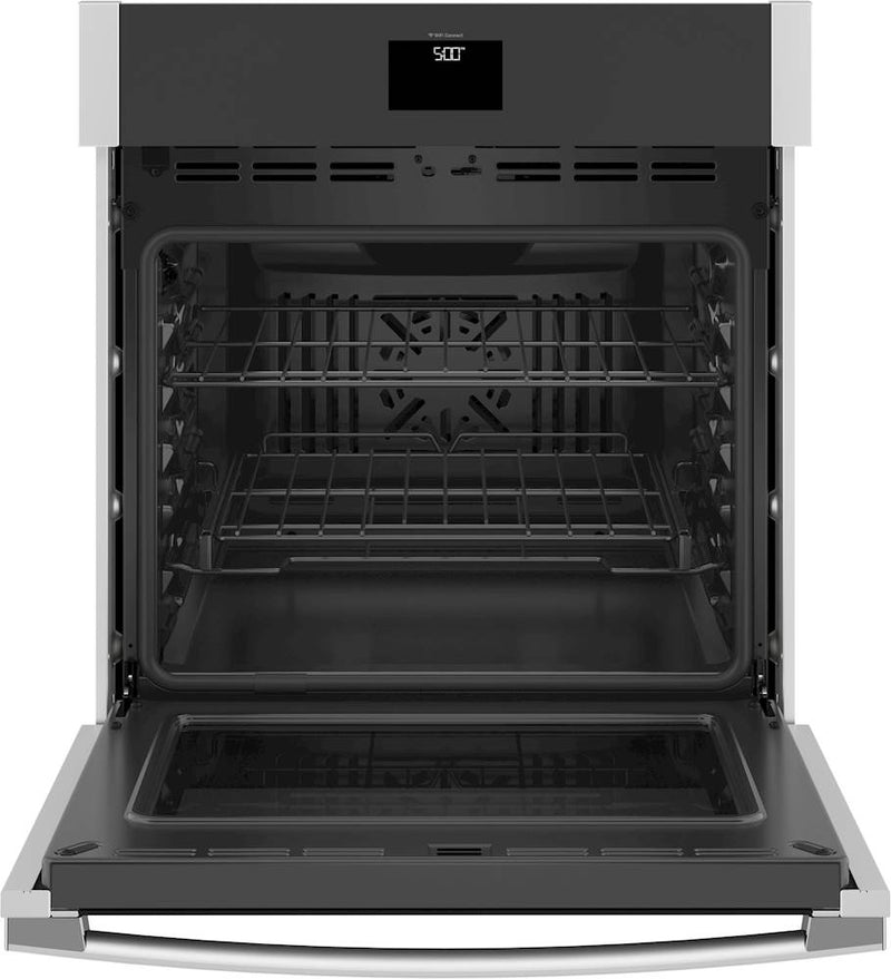 "GE - 27"" Built-In Single Electric Convection Wall Oven - Stainless steel"