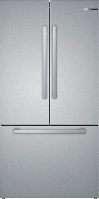Bosch - 800 Series 21 Cu. Ft. French Door Counter-Depth Refrigerator - Stainless steel