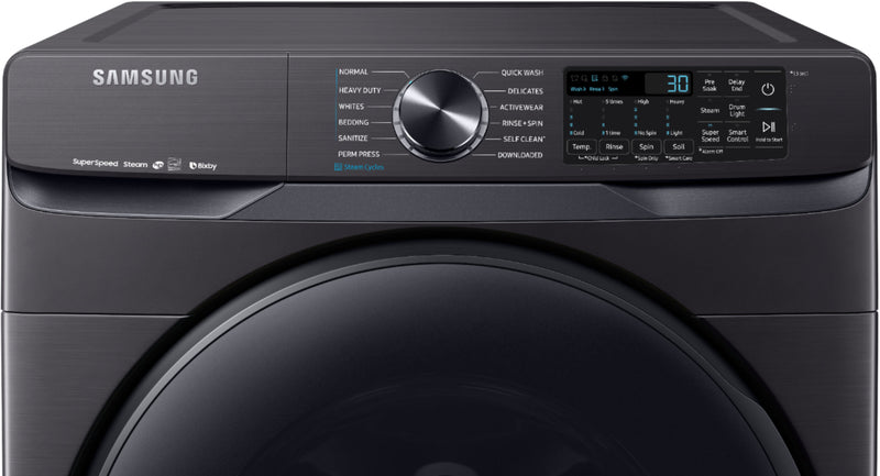 Samsung - 5.0 Cu. Ft. High Efficiency Stackable Smart Front Load Washer with Steam - White