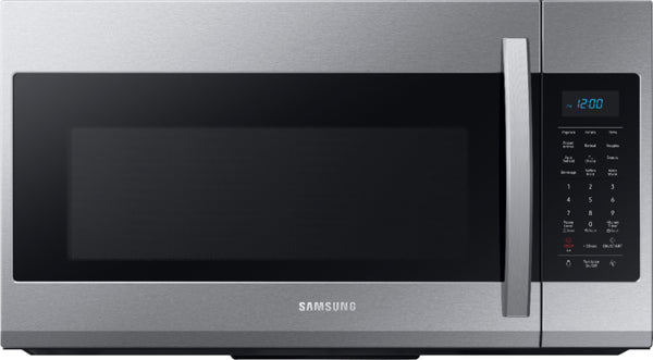 Samsung - 1.9 Cu. Ft. Over-the-Range Fingerprint Resistant Microwave with Sensor Cooking-Stainless Steel - Fingerprint Resistant Stainless Steel