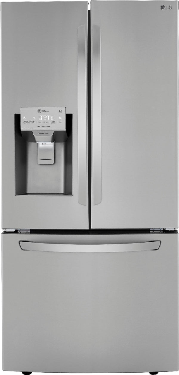 LG - 24.5 Cu. Ft. French Door Refrigerator with Wi-Fi - Stainless steel