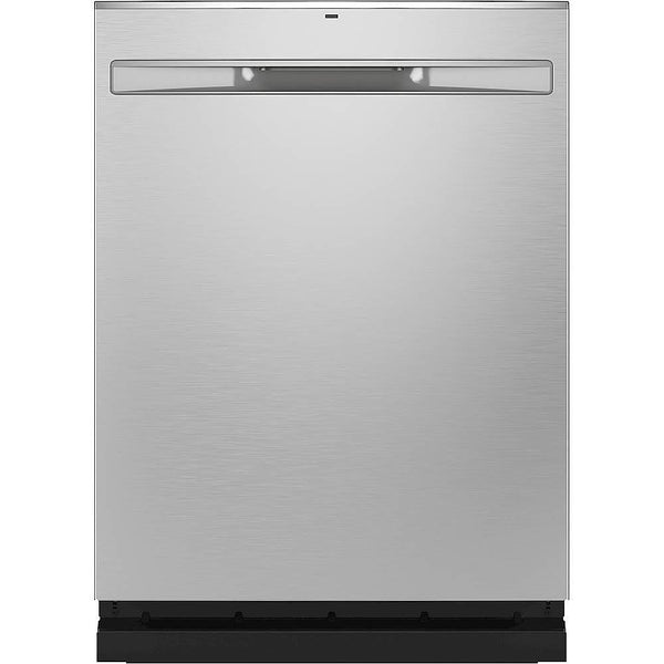 GE - Stainless Steel Interior Fingerprint Resistant Dishwasher with Hidden Controls - Stainless steel