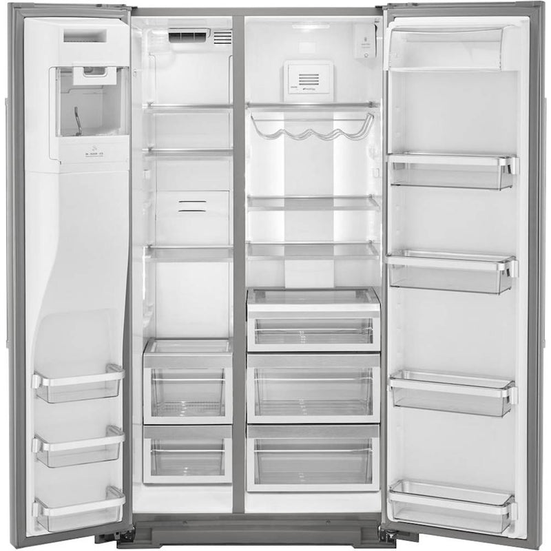 KitchenAid - 19.8 Cu. Ft. Side-by-Side Counter-Depth Refrigerator - Stainless steel