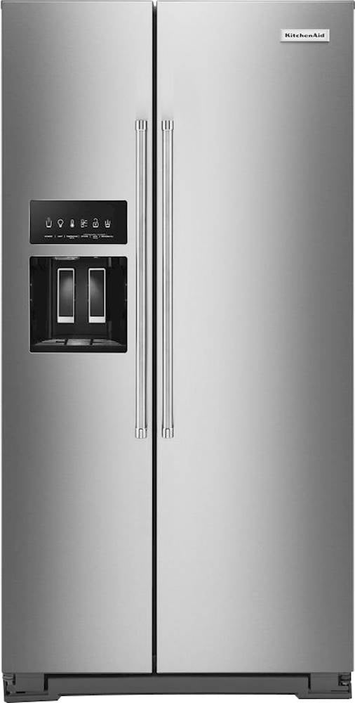 KitchenAid - 24.8 Cu. Ft. Side-by-Side Refrigerator - Stainless Steel With PrintShield Finish