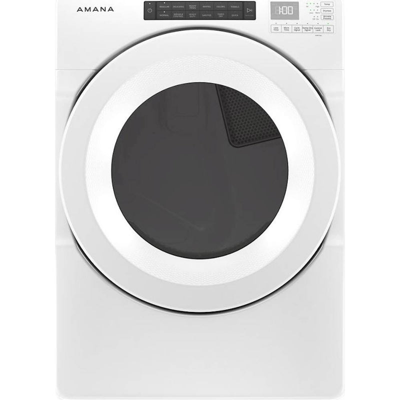 Amana - 7.4 Cu. Ft. 12-Cycle Front-Load Electric Dryer with Sensor Drying - White