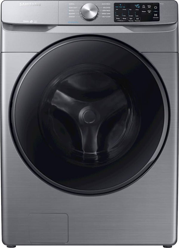 Samsung - 4.5 Cu. Ft. 10-Cycle High-Efficiency Front-Loading Washer with Steam - Platinum