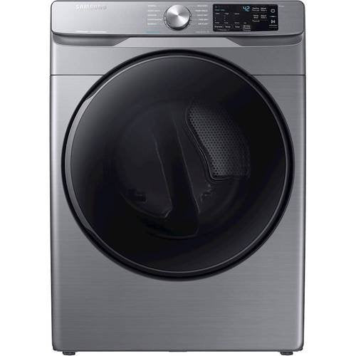 Samsung - 7.5 Cu. Ft. 10-Cycle Gas Dryer with Steam - Platinum