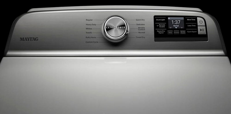 Maytag - 7.4 Cu. Ft. 11-Cycle Electric Dryer and Extra Power Button - White