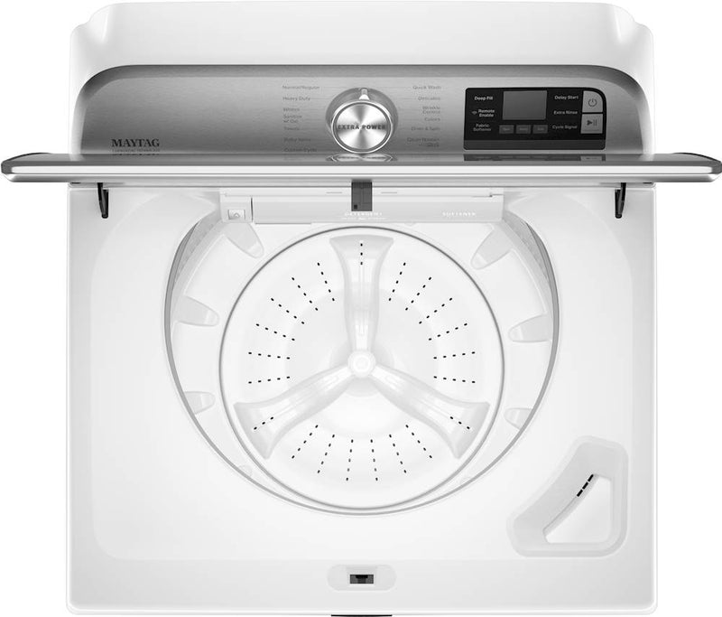 Maytag - 5.3 Cu. Ft. 13-Cycle Top-Load Washer with Extra Power Button - White