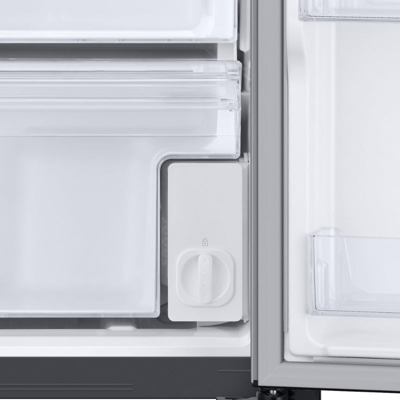 Samsung - 22 Cu. Ft. Side-by-Side Counter-Depth Refrigerator - Stainless steel