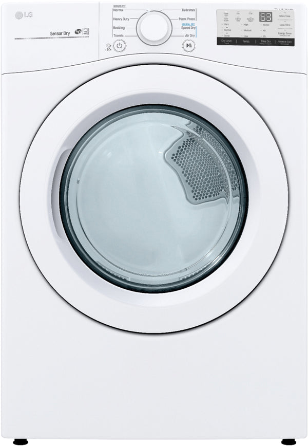 LG - 7.4 Cu. Ft. 8-Cycle Gas Dryer with FlowSense™ - White