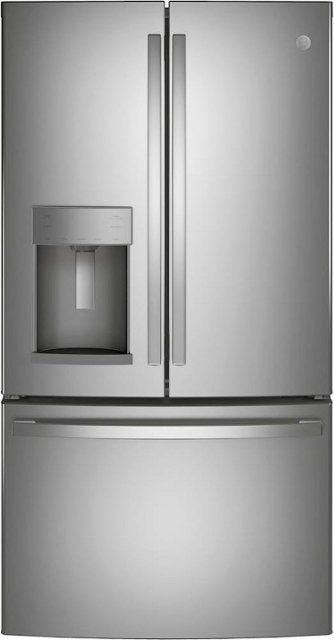GE - ENERGY STAR® 27.7 Cu. Ft. French-Door Refrigerator - Stainless steel