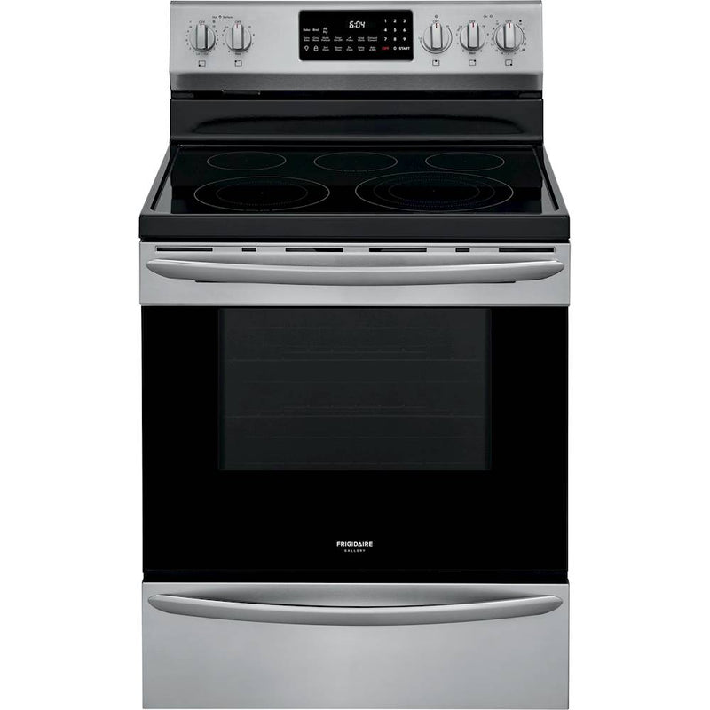 Frigidaire - Gallery Series 5.7 Cu. Ft. Freestanding Electric Range with Air Fry - Stainless steel