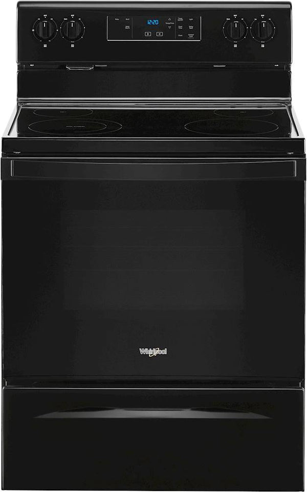 Whirlpool - 5.3 Cu. Ft. Freestanding Electric Range with Keep Warm Setting - Black