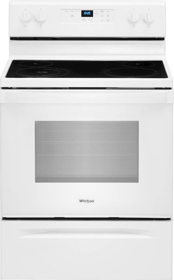 Whirlpool - 5.3 Cu. Ft. Freestanding Electric Range with Keep Warm Setting - White