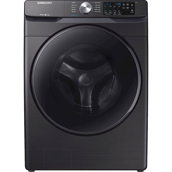 Samsung - 4.5 Cu. Ft. 10-Cycle High-Efficiency Front-Loading Washer with Steam - Black stainless steel