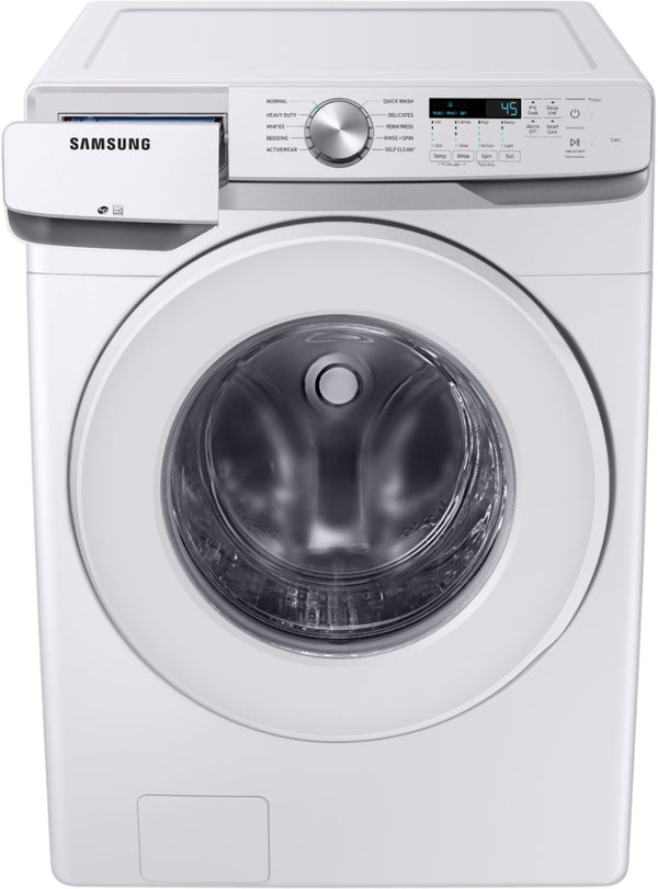 Samsung - 4.5 cu. ft. 5-Cycle Front Load Washer with Vibration Reduction Technology+ - White