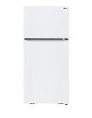 LG - 20.2 Cu. Ft. Top-Freezer Refrigerator - White