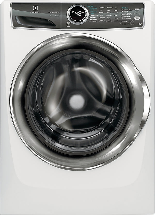 Electrolux - 4.4 Cu. Ft. Stackable Front Load Washer with Steam and SmartBoost® Technology - White