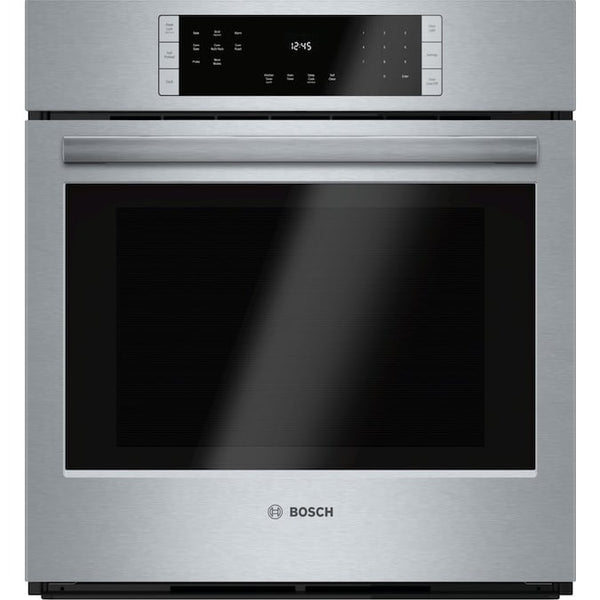 Bosch - 800 Self-cleaning True Convection Single Electric Wall Oven (Steel-stainless) (Common: 27 Inch; Actual 26.75-in) - Silver