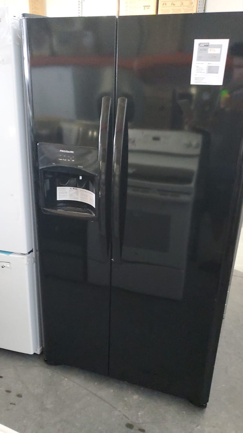 Frigidaire - 25.5 cu ft Side by Side Refrigerator with Ice Maker - Ebony Black