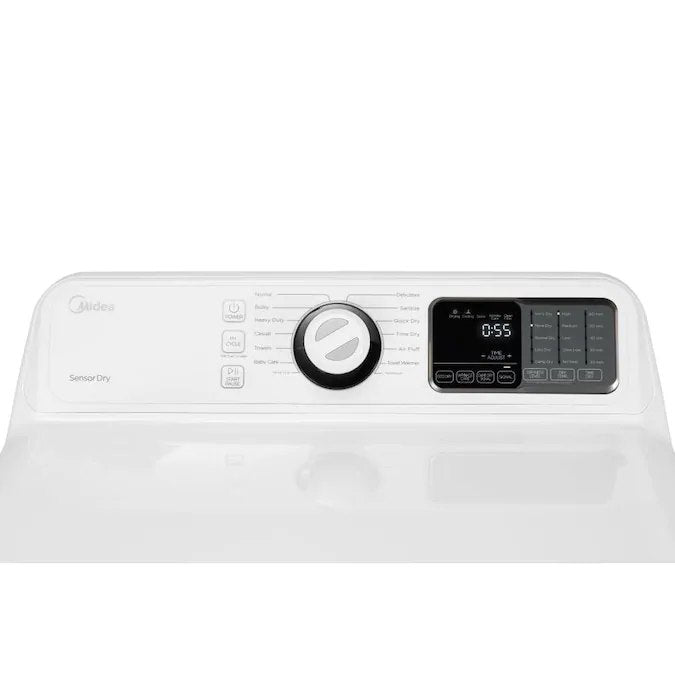 Midea - 7.5-cu ft Electric Dryer - White