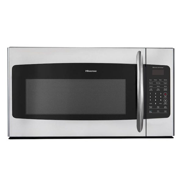 Hisense 1.7-cu ft Over-the-Range Microwave with Sensor Cooking - Stainless Steel