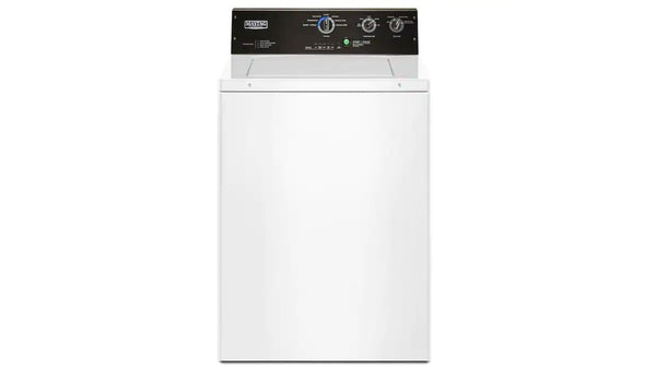 Maytag - 3.5-cu ft Commercial-Grade Residential Agitator Top-Load Washer - White